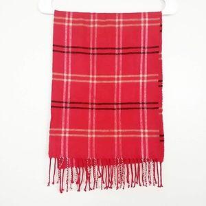 Scottish Cashmere Fringed Tartan Plaid Scarf #3739